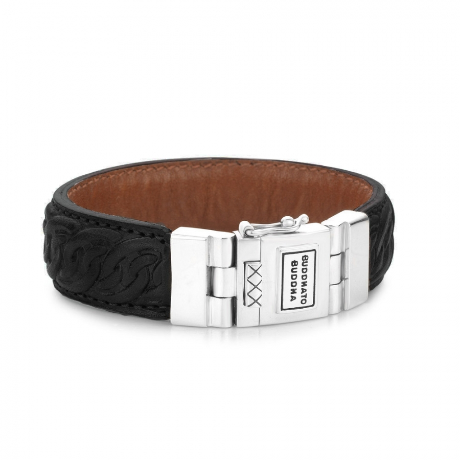 829BL Nathalie Leather Armband, Buddha to Buddha
