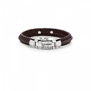 816BR Nurul Small Leather Bracelet Brown, Buddha to Buddha