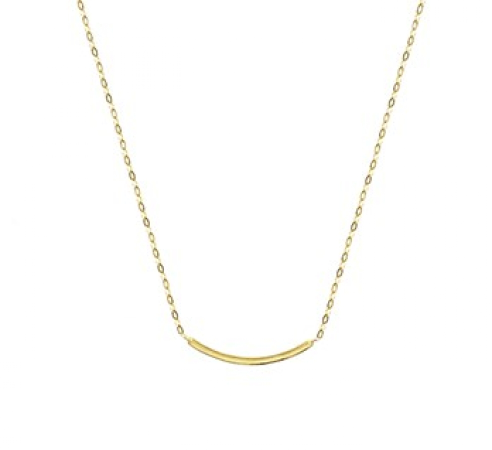 14K Gouden collier met staafje, Dumas Collection