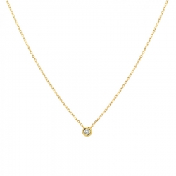 Gouden collier met diamant  Dumas Collection