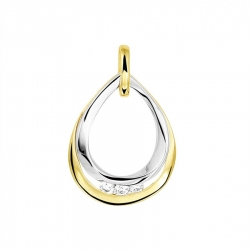 Gouden bicolour hanger met diamant  Dumas Collection