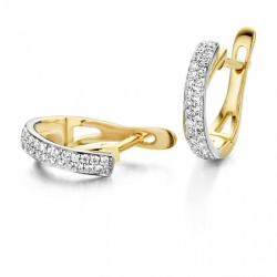 14K Gouden Creolen Diamant 72539  Dumas Collection