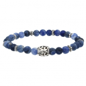 Zilveren armband met Sodaliet  Dumas Collection