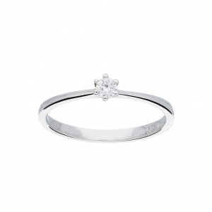 14K Witgouden ring diamant  Dumas Collection