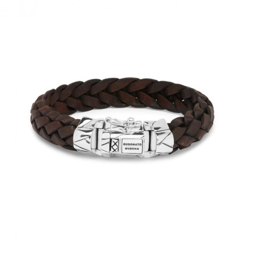 127BR Mangky Leather Bracelet Brown, Buddha to Buddha