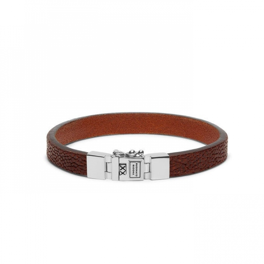 186CO Essential Leather Cognac Bracelet, Buddha to Buddha