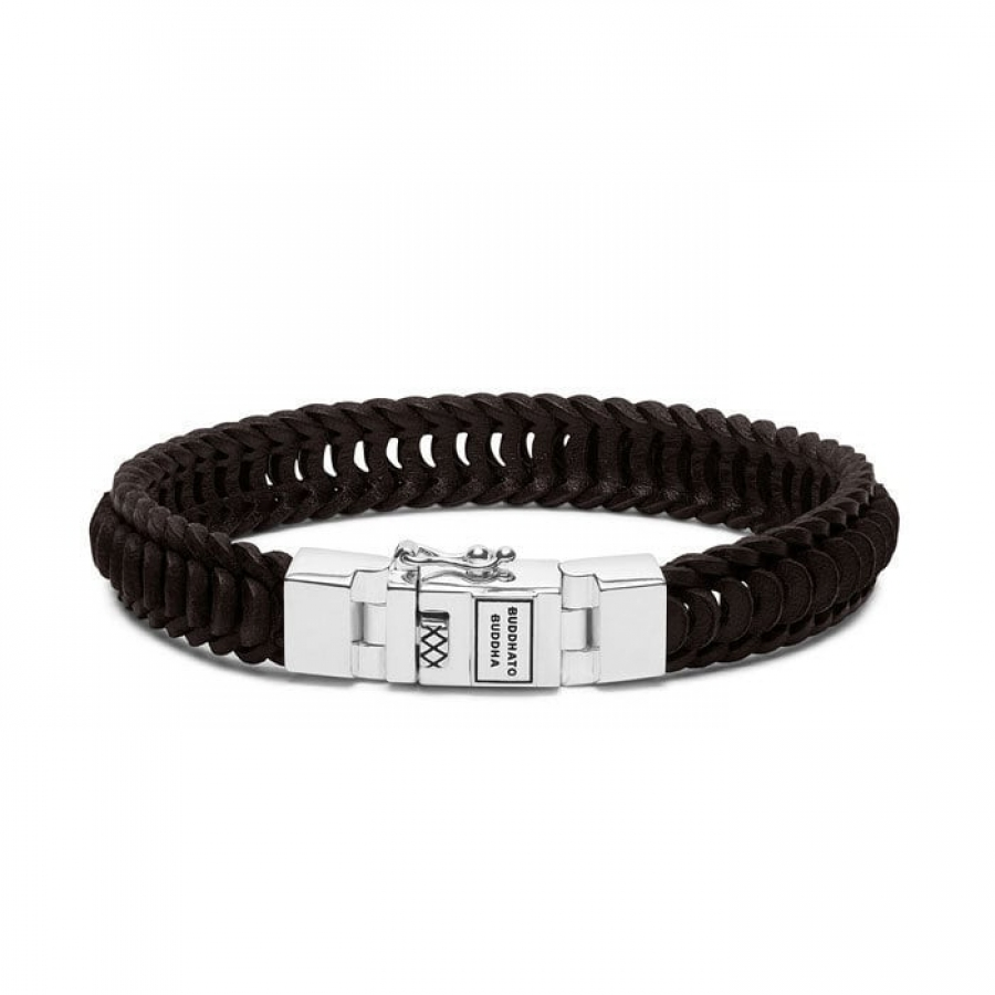 187BR Lars Leather Brown Bracelet, Buddha to Buddha