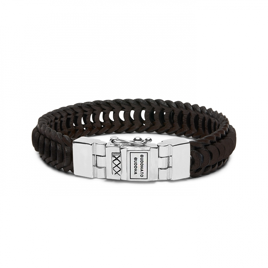 122BR Lars Leather Bracelet Brown, Buddha to Buddha