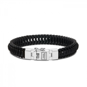 187BL Lars Leather Black Bracelet, Buddha to Buddha