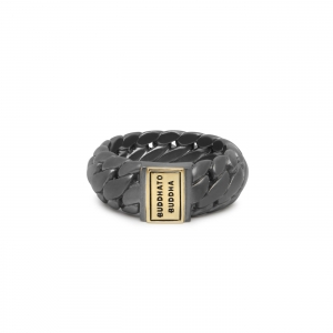 542BRG Ben Small Ring Black Rhodium Gold  Buddha to Buddha