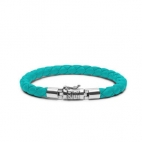 J545AQ Ben XS Leather Aqua Armband, Buddha to Buddha