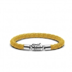 J545YE Ben XS Leather Yellow Armband, Buddha to Buddha