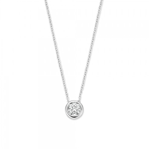 CP216057 Witgouden collier diamant  Excellent Jewelry