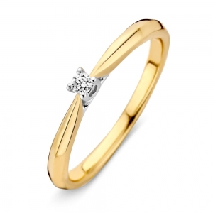 RG413910 Bicolor gouden ring diamant  Excellent Jewelry