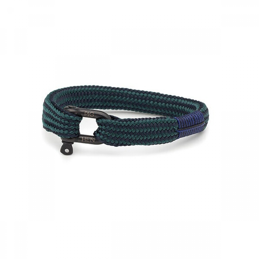 Whiskey Willy Navy/Petrol Armband, Pig & Hen