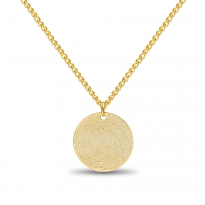 Coin Fingerprint Necklace Gold 14kt