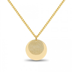 Dubble Coin Fingerprint Hanger Gold
