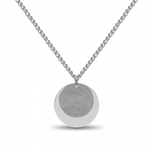 Dubble Coin Fingerprint Hanger Silver