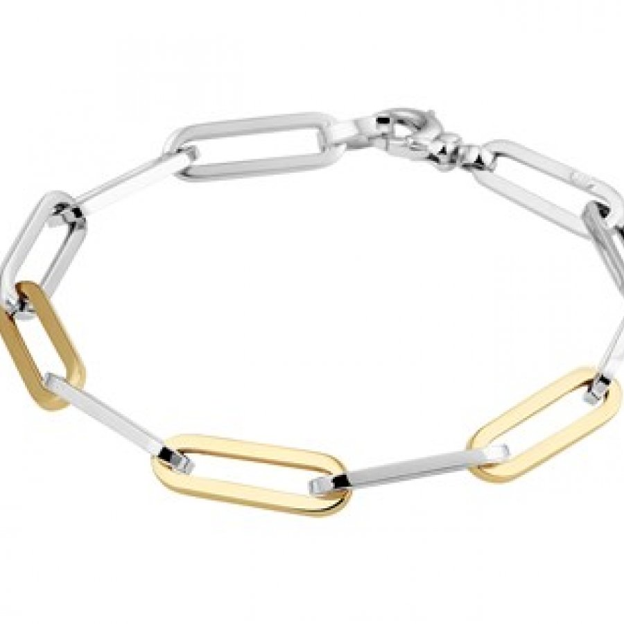 Goud met Zilver Anker Armband Closed Forever 58850, Valenti Moda